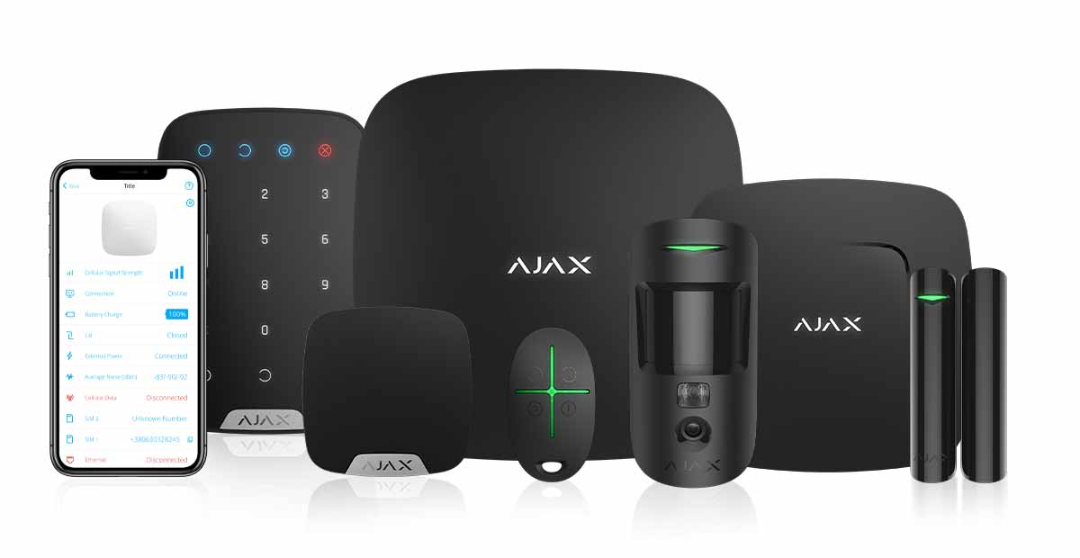 AJAX Alarm system in black